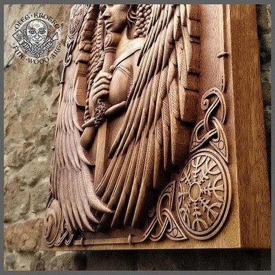 Viking Norse Mythology Valkyrie Fine Wood Carving Ancient Treasures Ancientreasures Viking Odin Thor Mjolnir Celtic Ancient Egypt Norse Norse Mythology