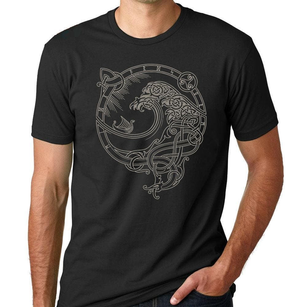 Viking North Wind Viking T-Shirt Ancient Treasures Ancientreasures Viking Odin Thor Mjolnir Celtic Ancient Egypt Norse Norse Mythology