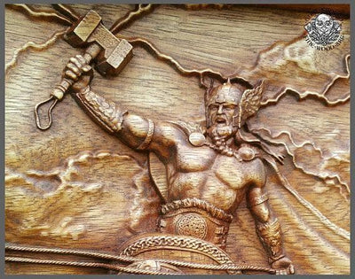 Viking Ragnarok Thor Mjolnir Goat Fine Wood Carving Ancient Treasures Ancientreasures Viking Odin Thor Mjolnir Celtic Ancient Egypt Norse Norse Mythology