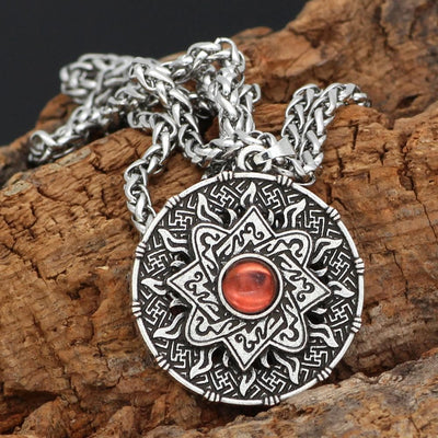 Viking Silver Norse Viking Symbol Necklace