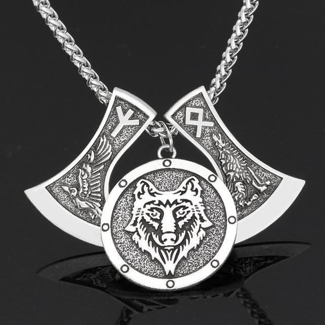 Viking Silver Odinn Allfather's Animals Rune Necklace Ancient Treasures Ancientreasures Viking Odin Thor Mjolnir Celtic Ancient Egypt Norse Norse Mythology