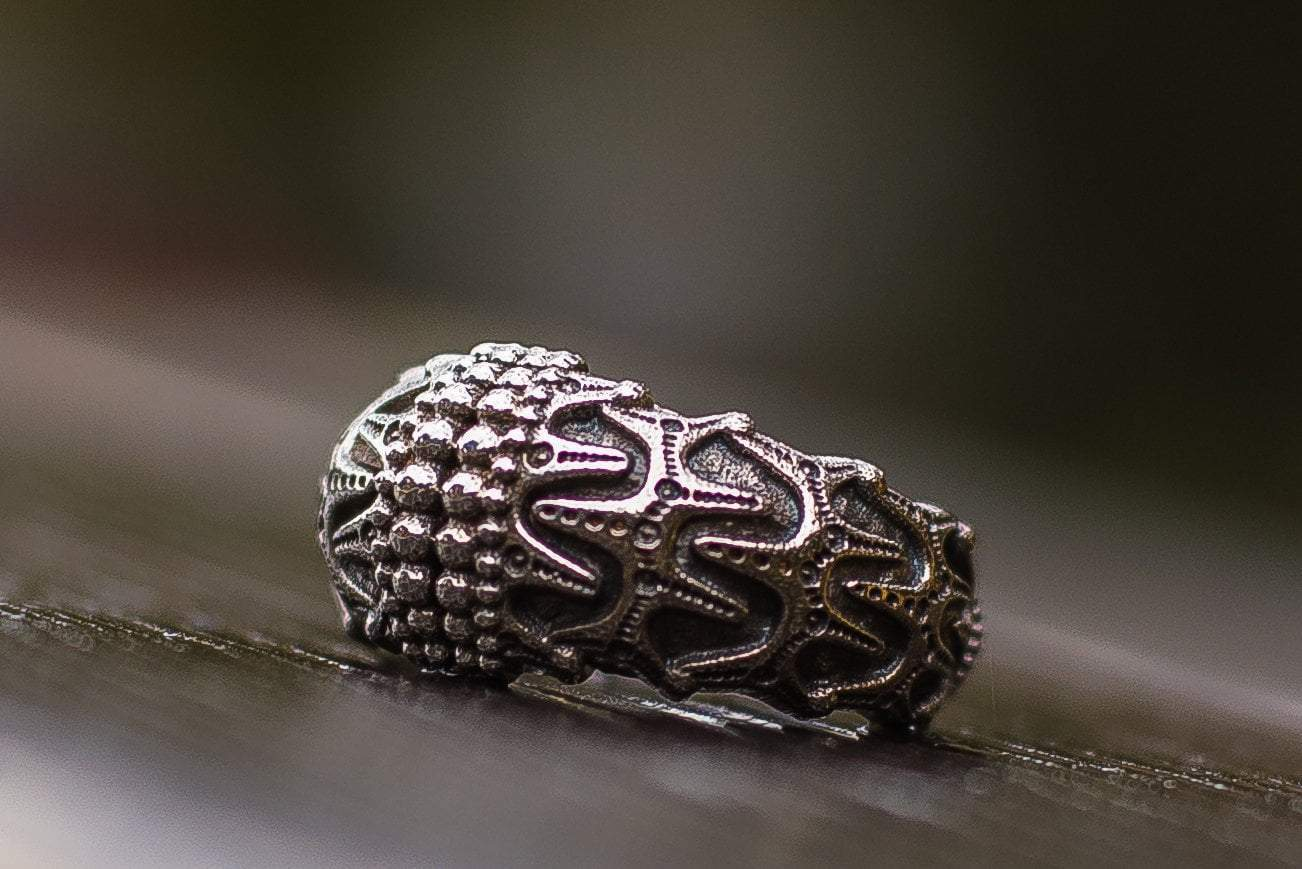 Viking Draupnir Sterling Silver Norse Handcrafted Ring