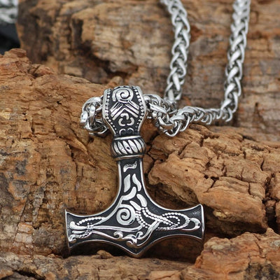Viking Silver Viking Mjolnir Stainless Steel Necklace