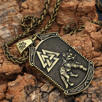 Viking Silver Viking Yggdrasil and Valknut Necklaces