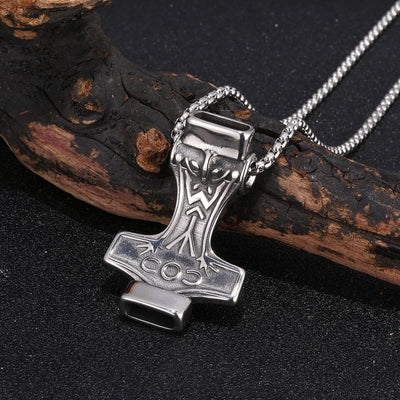 Viking Stainless Steel / 60 CM Viking Mjolnir Thor's Hammer Necklace