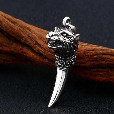 Viking Stainless Steel Antique Wolf Fang Pendant Necklace Ancient Treasures Ancientreasures Viking Odin Thor Mjolnir Celtic Ancient Egypt Norse Norse Mythology