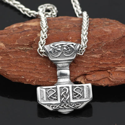 Viking Stainless Steel Thor's Hammer Mjolnir Pendant Necklace Ancient Treasures Ancientreasures Viking Odin Thor Mjolnir Celtic Ancient Egypt Norse Norse Mythology