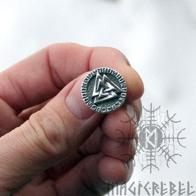 Viking Sterling 925 Silver Valknut Futhark Runes Earring Ancient Treasures Ancientreasures Viking Odin Thor Mjolnir Celtic Ancient Egypt Norse Norse Mythology