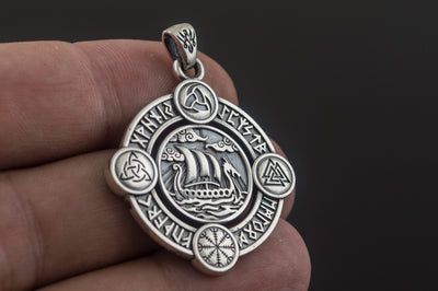 Viking Sterling Silver Drakkar Pendant Ancient Treasures Ancientreasures Viking Odin Thor Mjolnir Celtic Ancient Egypt Norse Norse Mythology