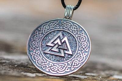 Viking Sterling Silver Pendant with Valknut Symbol Ancient Treasures Ancientreasures Viking Odin Thor Mjolnir Celtic Ancient Egypt Norse Norse Mythology