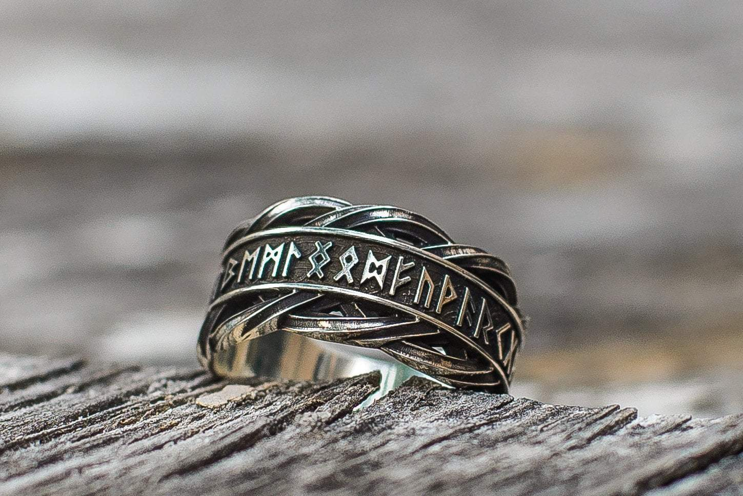 Viking Sterling Silver Ring with Elder Futhark Runes Ancient Treasures Ancientreasures Viking Odin Thor Mjolnir Celtic Ancient Egypt Norse Norse Mythology