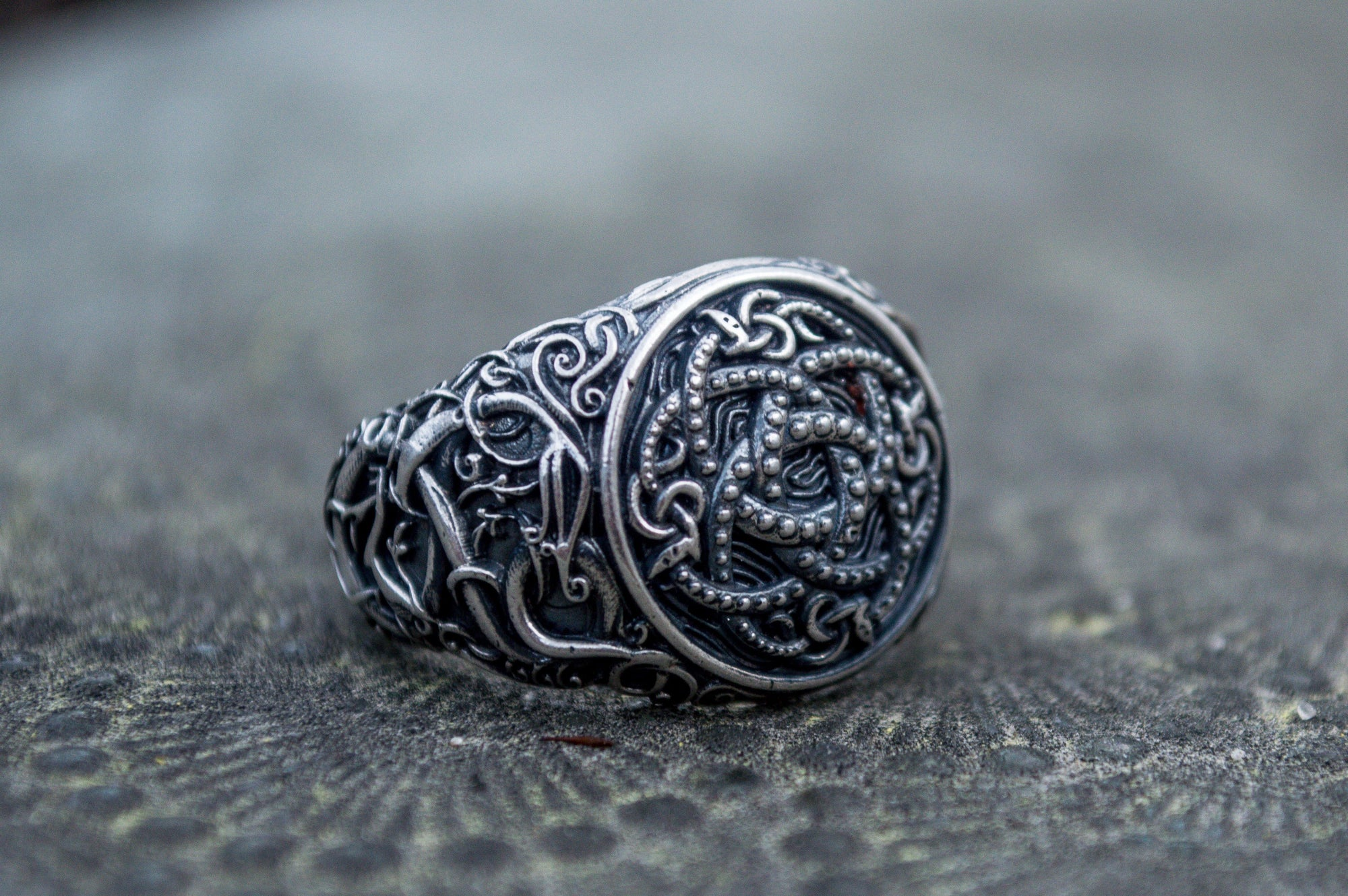 Viking Jormungandr with Urnes Style Art Handcrafted Ring