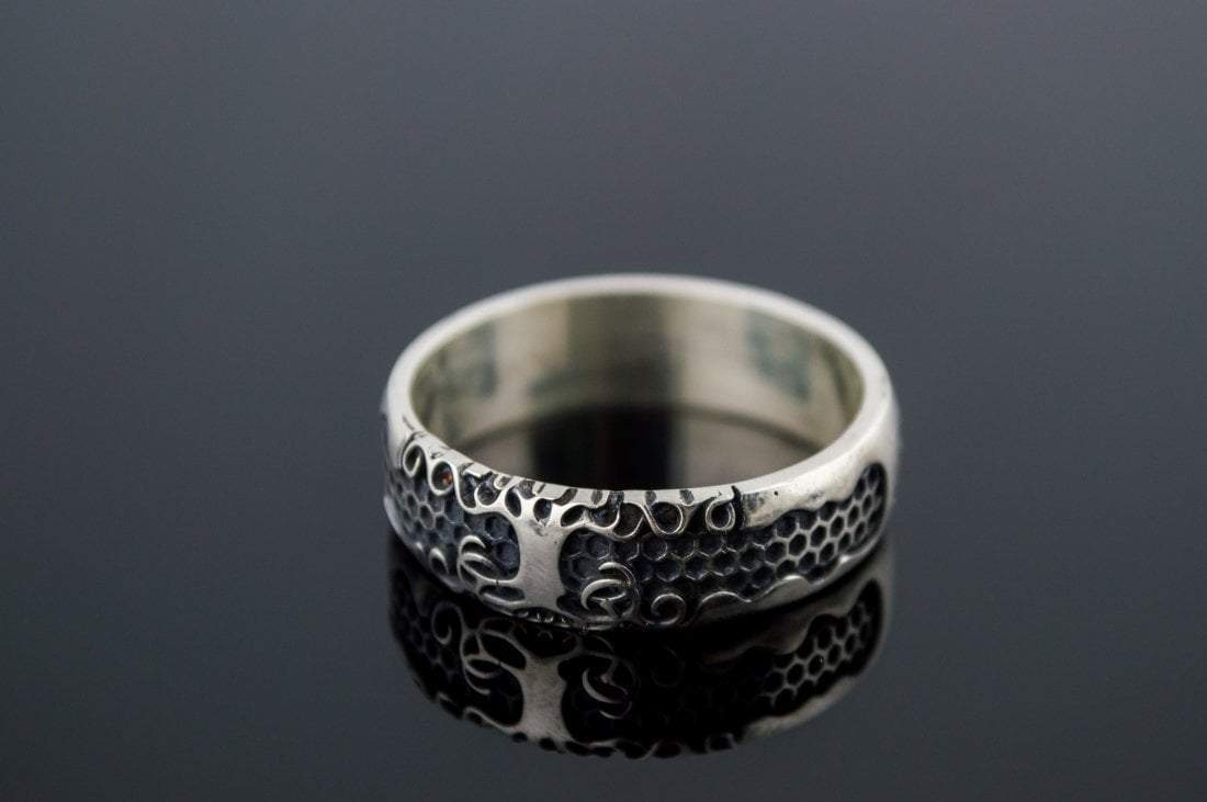 Viking Yggdrasil Symbol Sterling Silver Handcrafted Ring