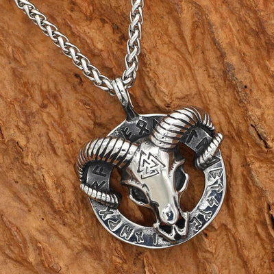 Viking Thor's Ram Skull Stainless Steel Chain Ancient Treasures Ancientreasures Viking Odin Thor Mjolnir Celtic Ancient Egypt Norse Norse Mythology