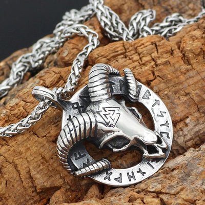 Viking Thor's Ram Skull Pendant Stainless Steel Chain Ancient Treasures Ancientreasures Viking Odin Thor Mjolnir Celtic Ancient Egypt Norse Norse Mythology