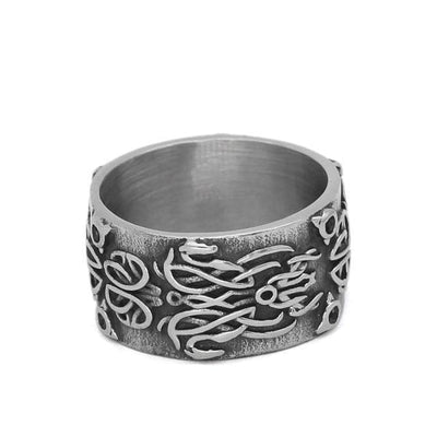 Viking US 9 / Silver Nordic Dragon Ring