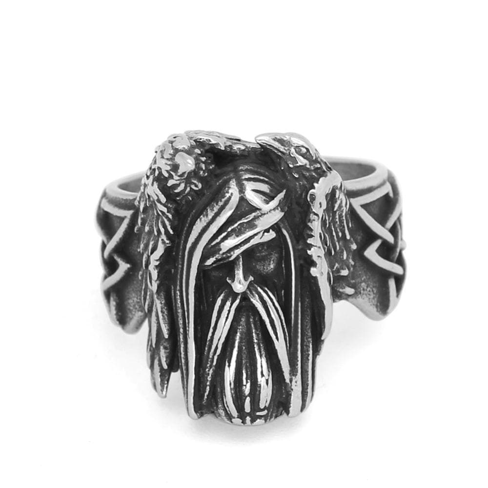 Viking US 9 / Silver Viking Raven Ring