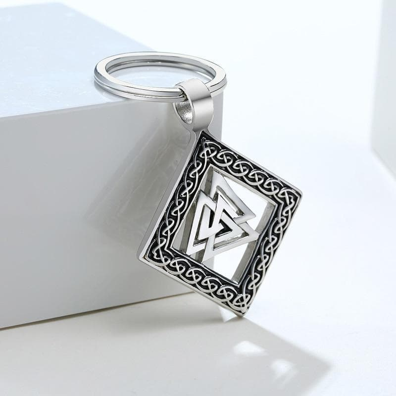 Viking Valknut & Knotwork Stainless Steel Keychain Ancient Treasures Ancientreasures Viking Odin Thor Mjolnir Celtic Ancient Egypt Norse Norse Mythology