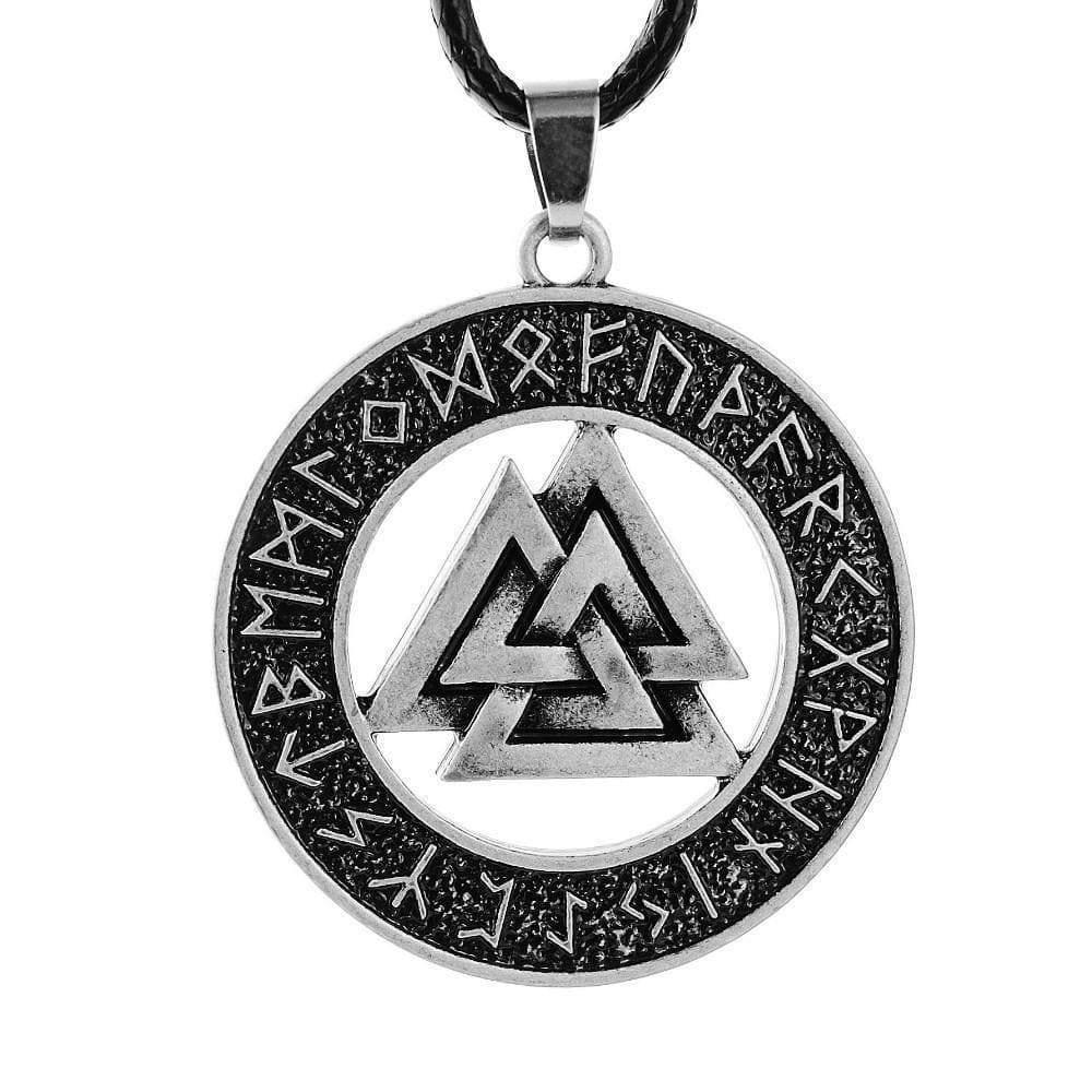 Valknut Leather Pendant
