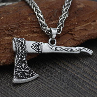Viking Valknut Nordic Axe Necklace Ancient Treasures Ancientreasures Viking Odin Thor Mjolnir Celtic Ancient Egypt Norse Norse Mythology