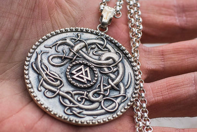 Viking Viking Necklace with Valknut Symbol Ancient Treasures Ancientreasures Viking Odin Thor Mjolnir Celtic Ancient Egypt Norse Norse Mythology