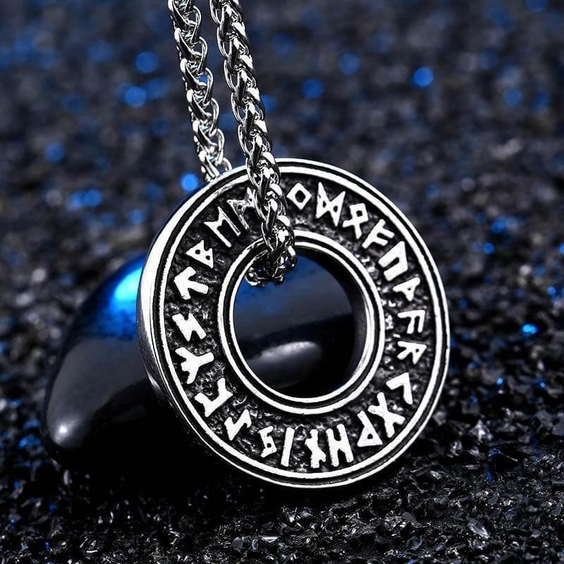 Viking Rune Stainless Steel Necklace