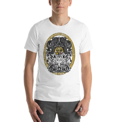 Viking White / S Odinn Alfather Viking T-Shirt by CelticHammerClub Ancient Treasures Ancientreasures Viking Odin Thor Mjolnir Celtic Ancient Egypt Norse Norse Mythology