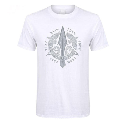 Viking White / XS Gungnir, The Spear of Odin T-Shirt Ancient Treasures Ancientreasures Viking Odin Thor Mjolnir Celtic Ancient Egypt Norse Norse Mythology