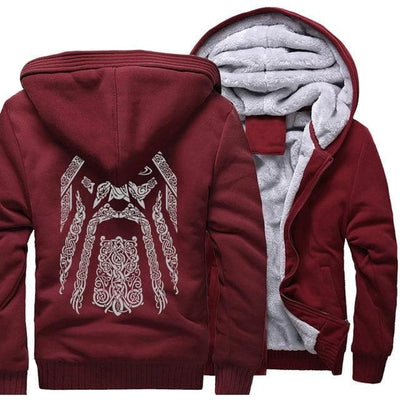 Viking wine red / M Odin Vikings Hoodie Ancient Treasures Ancientreasures Viking Odin Thor Mjolnir Celtic Ancient Egypt Norse Norse Mythology