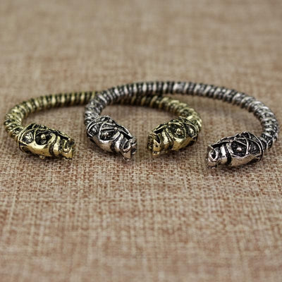 Viking Wolf Headed Viking Bracelet Ancient Treasures Ancientreasures Viking Odin Thor Mjolnir Celtic Ancient Egypt Norse Norse Mythology