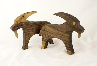 Viking Wooden Goats of Thor, Tanngrisnir & Tanngnjóstr Ancient Treasures Ancientreasures Viking Odin Thor Mjolnir Celtic Ancient Egypt Norse Norse Mythology