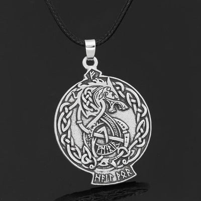 Vikings And Nordic Leather-chain Viking Dragon Necklace
