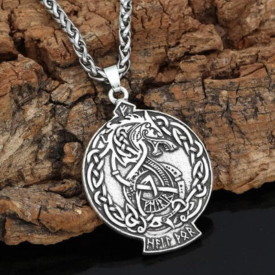 Vikings And Nordic Metal-chain Viking Dragon Necklace