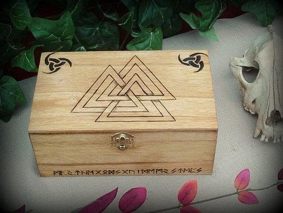 Vikings And Nordic Valknut Keepsake Box