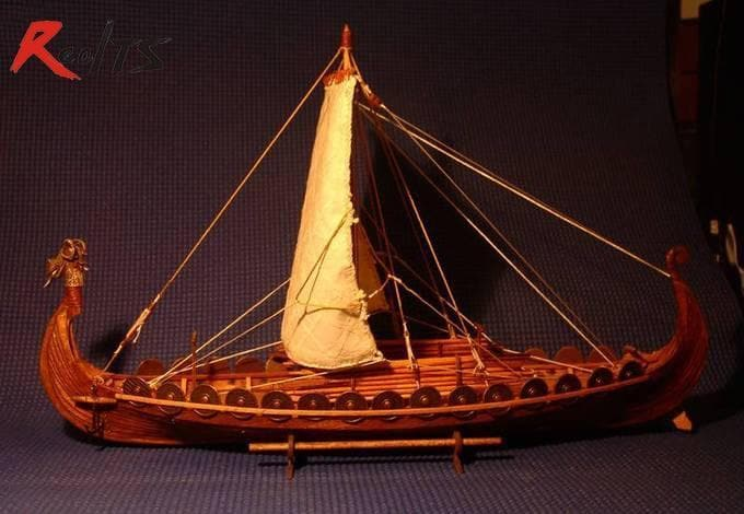 Vikings And Nordic Viking Classic Wooden Sailing Boat