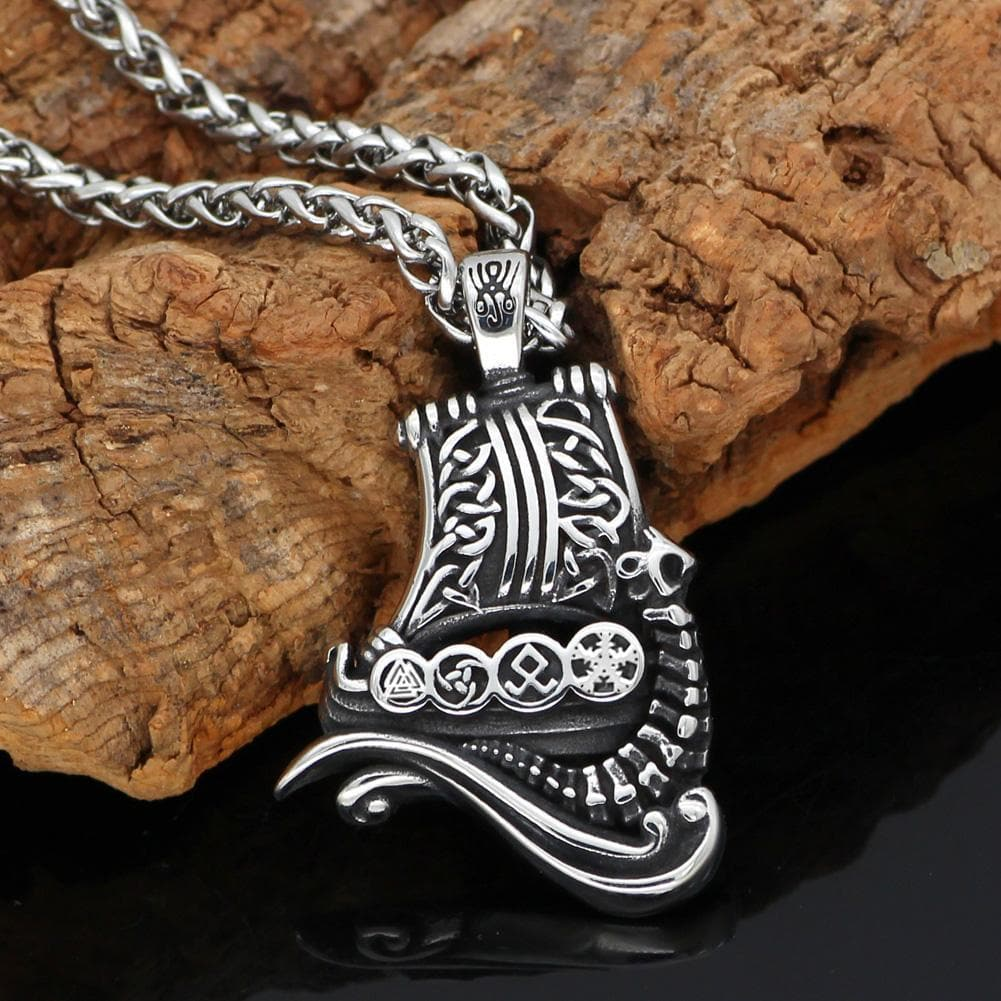 Viking Ship Necklace