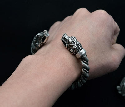 Vikings And Nordic Viking Fenrir Father Of The Wolves Bangles Bracelet