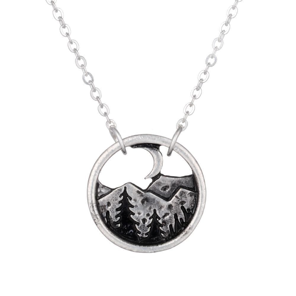 Vikings And Nordic Viking Landscape Pendant Necklace