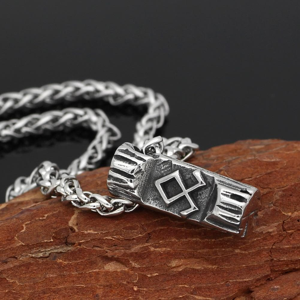 Vikings And Nordic Viking Odin Symbol Rune Necklace