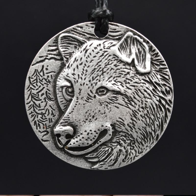 Vikings And Nordic Viking Wild Wolf Spirit Necklace