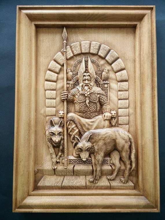 Vikings God Odin  Valhalla Wall Decor