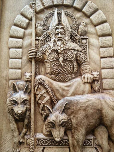 Vikings And Nordic Vikings God Odin  Valhalla Wall Decor