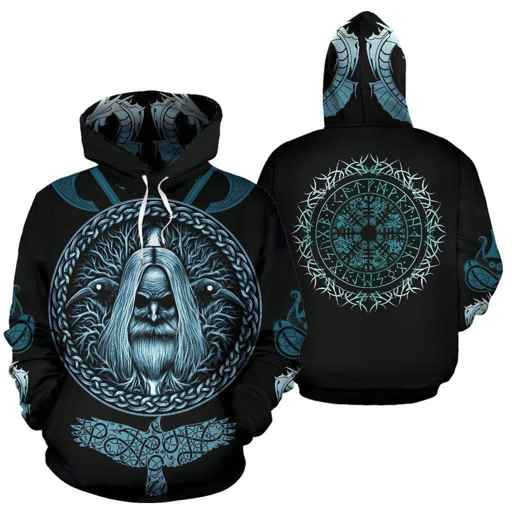 Vikings Odin's Compass Vegvisir Hoodie Ancient Treasures Ancientreasures Viking Odin Thor Mjolnir Celtic Ancient Egypt Norse Norse Mythology