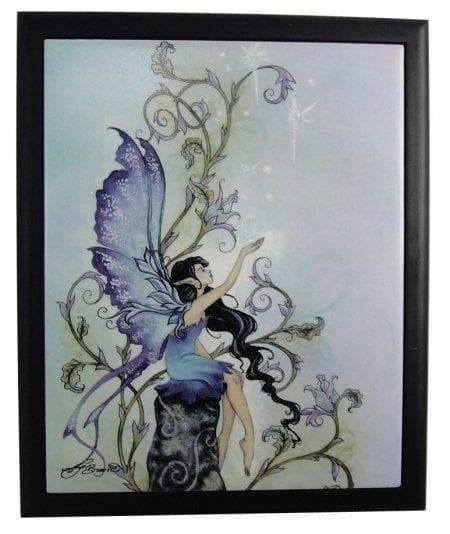 "Wall Art Wiccan ""Creation"" Fairy Framed Art Tile Ancient Treasures Ancientreasures Viking Odin Thor Mjolnir Celtic Ancient Egypt Norse Norse Mythology"