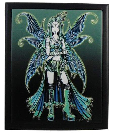"Wall Art Wiccan Fairy ""Zoe"" Framed Tile Art Ancient Treasures Ancientreasures Viking Odin Thor Mjolnir Celtic Ancient Egypt Norse Norse Mythology"