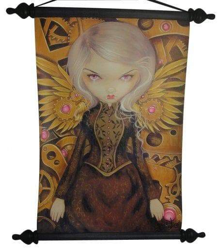 Wall Art Wiccan Mechanical Angel Winged Fairy Wall Scroll Ancient Treasures Ancientreasures Viking Odin Thor Mjolnir Celtic Ancient Egypt Norse Norse Mythology