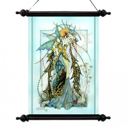 Wall Art Wiccan Moonstone Enchantress Wall Scroll Ancient Treasures Ancientreasures Viking Odin Thor Mjolnir Celtic Ancient Egypt Norse Norse Mythology