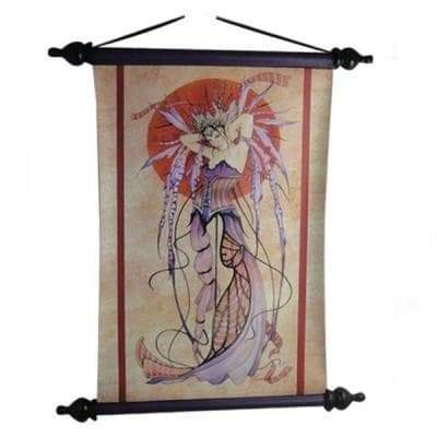 Wiccan Witching Moon Fairy Goddess Wall Scroll Art