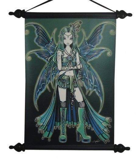 Wiccan Zoe Butterfly Fairy Wall Scroll Art