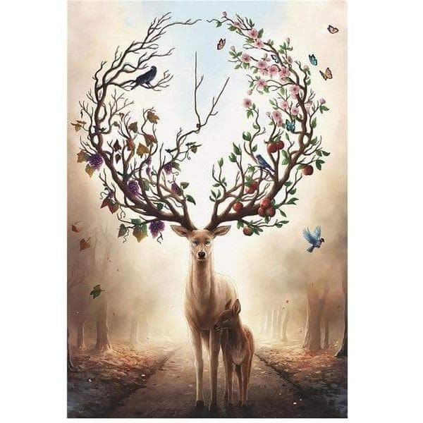 Wiccan Mystical Forest Deer 1000Pcs Jigsaw Puzzle Ancient Treasures Ancientreasures Viking Odin Thor Mjolnir Celtic Ancient Egypt Norse Norse Mythology
